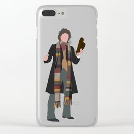 Fourth Doctor: Tom Baker Clear iPhone Case