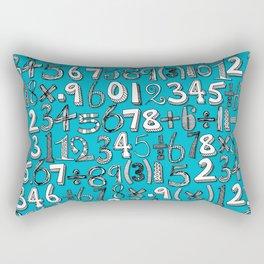 math doodle blue Rectangular Pillow