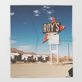 Roy's Motel Throw Blanket