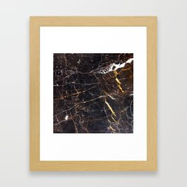 Golden Brown Granite Framed Art Print