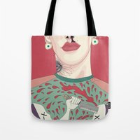 boy Tote Bags featuring boy by snsemstlcp