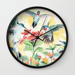Hummingbird Party Wall Clock