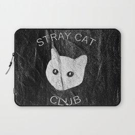 Stray Cat Club Black Background Laptop Sleeve