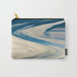 Blue And White Swirls Carry-All Pouch