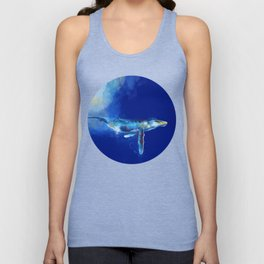 Deep Blue Whale Unisex Tank Top
