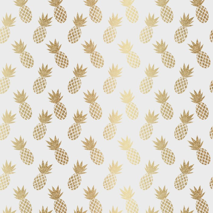 Gold Pineapple Pattern Comforters