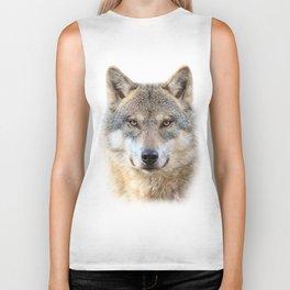 Wolf Portrait Biker Tank