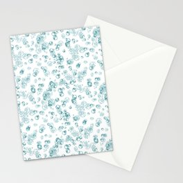 Arabidopsis protoplast cell microscopy pattern teal on white Stationery Cards