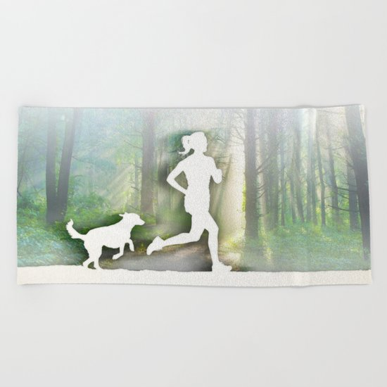 Forest Run Beach Towel