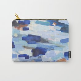 Blues - abstract art Carry-All Pouch