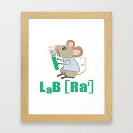 Lab Rat Science Chemistry Teacher Student Gift Framed Art Print