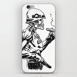 Military zombie - Skull military - zombie illustration iPhone Skin