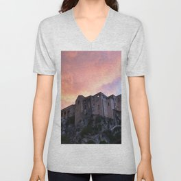 Tropea In Calabria At Sunset Unisex V-Neck