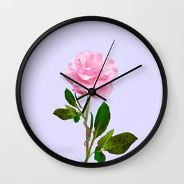 SINGLE PINK ROSE FOR LOVE Wall Clock