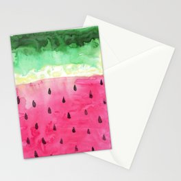Watercolor Watermelon Stationery Cards