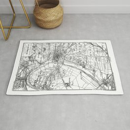 Vintage Paris Map Rug