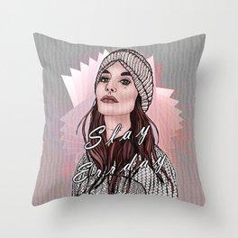 Slay Errday Tuff Girl Illustration Throw Pillow
