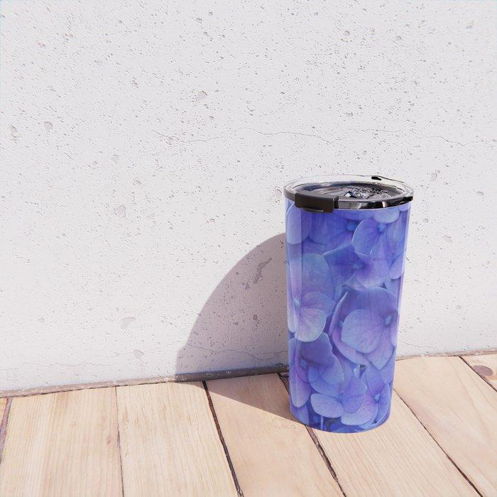 Hydrangea blue Travel Mug