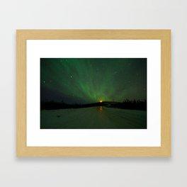 The Aurora is ahead Framed Art Print