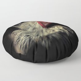 Rooster - A Crown of Red Floor Pillow