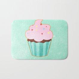 Cupcake tasty, sweet illustration Bath Mat