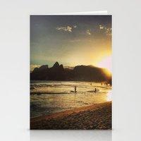 rio de janeiro Stationery Cards featuring Rio de Janeiro - Brasil  by Claudia Araujo