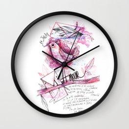 le Jardin de Prévert Wall Clock
