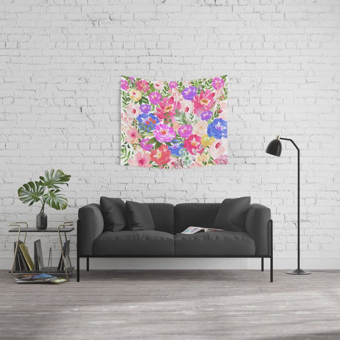 Splash Colorful Room Wall: Colorful Splash Wall Tapestry By Lena127