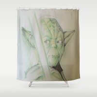yoda Shower Curtains featuring yoda by DelDP