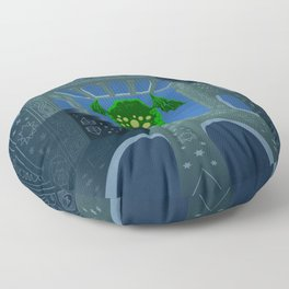 Cthulhu is rising Floor Pillow