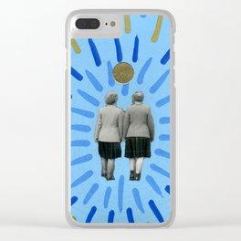 Zero Fucks Given Clear iPhone Case