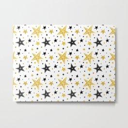 Glittery stars and starfishes Metal Print