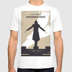 No798 My Assassins Creed minimal movie poster White MEDIUM Mens Fitted Tee