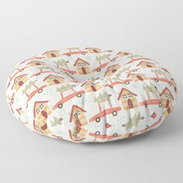 Driving Home For Christmas Floor Pillow