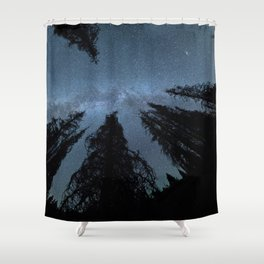 Celestial Starlight In The Forest Near Lake Irene Colorado Shower Curtain