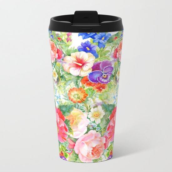 FLOWERS XI Metal Travel Mug