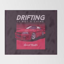 Sport Car Illustration Throw Blanket