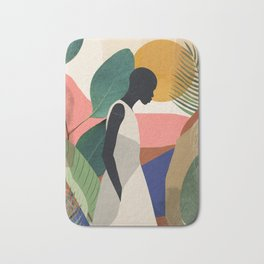 Tropical Girl Bath Mat