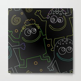 Abstract Kids Metal Print