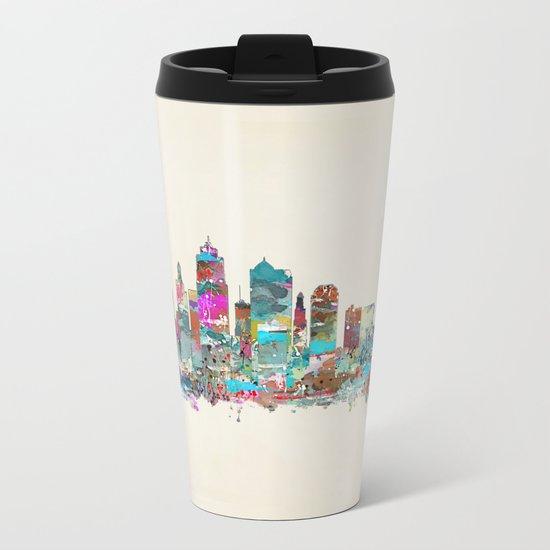 kansas city Missouri skyline Metal Travel Mug