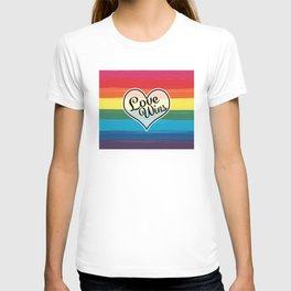 LGBTQ+ Pride Love Wins Paint Stroke Design T-shirt
