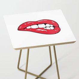 Red Lips Pop art Side Table