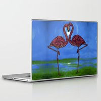 flamingos Laptop & iPad Skins featuring Flamingos by Ben Geiger