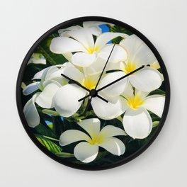 Tropical Exotic Fragrant Plumerias From Happy Hawaiian Islands Wall Clock