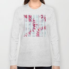 Abstract Foliage Pattern Long Sleeve T-shirt