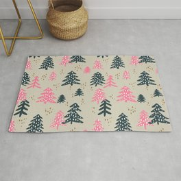 Christmas Trees – Emerald & Pink Rug