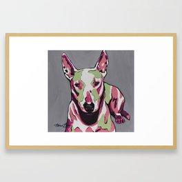 Bull Terrier Dog Pop Art - Andromeda  Framed Art Print