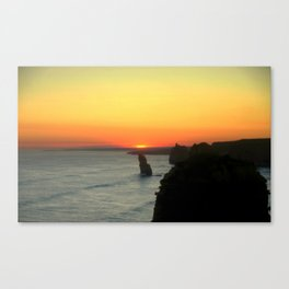 Sunsetting over the Great Southern Ocean Canvas Print