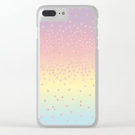 Cute confetti dots Clear iPhone Case