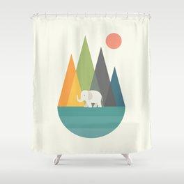 Walk In Peace Shower Curtain